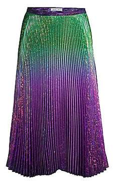 Delfi Collective Women's Clara Ombre Metallic Pleated Skirt