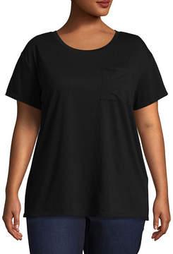 Arizona Short Sleeve Pocket T-Shirt- Juniors Plus