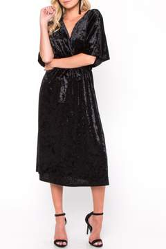 Everly Velvet Wrap Midi Dress