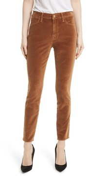Frame Women's Velveteen High Waist Skinny Pants