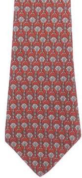 Hermes Belt-Link Print Silk Tie