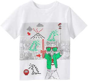 Joe Fresh Toddler Boys' Emoticon Graphic Tee, White (Size 2)
