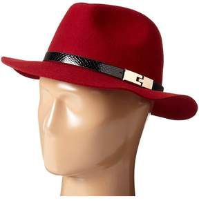 San Diego Hat Company WFH7968 Adjustable Fedora with A Gold Buckle Fedora Hats