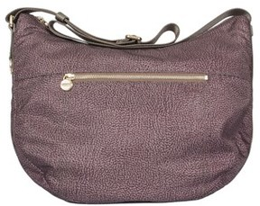Borbonese Women's Grey Polyester Shoulder Bag.