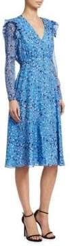 Carolina Herrera Silk Chiffon Midi Dress