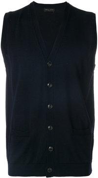 Roberto Collina sleeveless V-neck cardigan