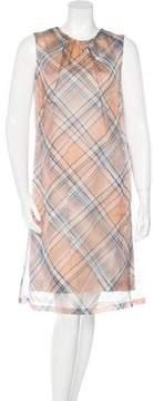 Dries Van Noten Plaid Silk Dress