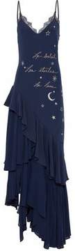 Cinq à Sept Alexandria Asymmetric Embroidered Silk Maxi Dress
