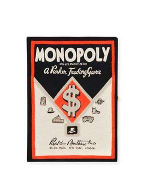 Olympia Le-Tan Monopoly Parker Bros Trading Game Box Clutch Bag