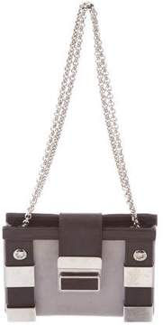 Giuseppe Zanotti Leather-Trimmed Shoulder Bag