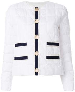 Fay stripe panelled quilted jacket
