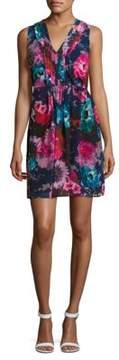 Betsey Johnson Floral-Print Sleeveless Dress