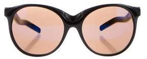 Alberta Ferretti Reflective Oversize Sunglasses