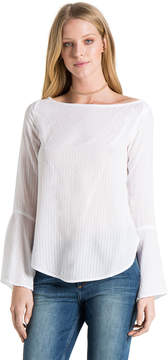 Bella Dahl Bell Sleeve Top-White-XS