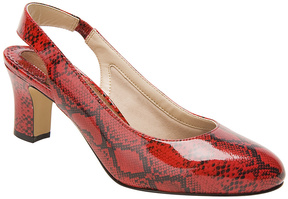 Ros Hommerson Red & Black Snake Vicki Leather Pump - Women