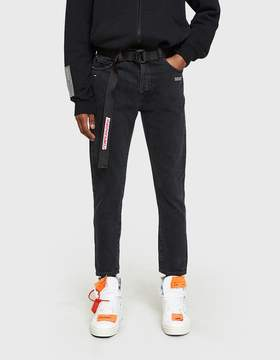 Off-White Off White Black Low Crotch 5 Pocket Jeans