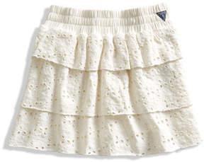 GUESS Eyelet Jersey Skirt (2-6x)