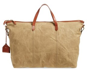 Madewell The Transport Canvas Weekend Bag - Beige