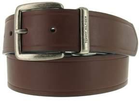 Tommy Hilfiger Reversible Antiqued Buckle Bonded Leather Belt (Size 36
