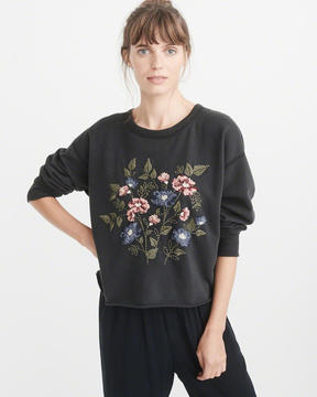 Abercrombie & Fitch Embroidered Crew