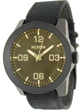 Nixon Men's Corporal A2431354 Black Nylon Quartz Watch