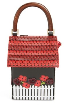 Kate Spade Ooh La La Cuckoo Clock Leather Handbag - Black - BLACK - STYLE