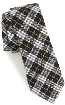 1901 Men's Siegel Plaid Cotton & Linen Skinny Tie