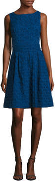 Anne Klein Women's Novelty Eyelet Fit And Flare Dress