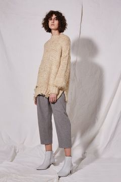 Boutique Laddered knitted jumper