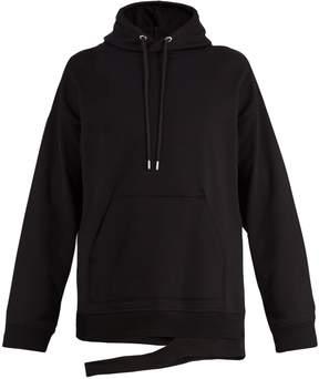 Helmut Lang Split-hem cotton-blend sweatshirt