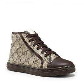 Gucci Kid's GG Supreme Canvas High-Top Sneakers