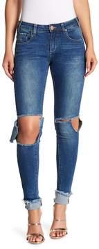 One Teaspoon Hoodlums Frayed Hem Skinny Jeans