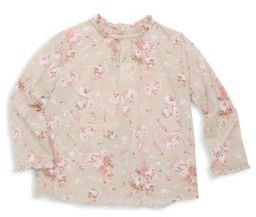 Bonpoint Little Girl's & Girl's Floral Print Cotton Blouse