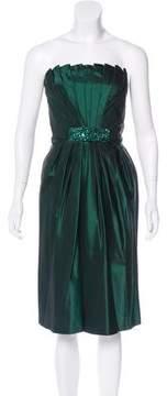 Carmen Marc Valvo Silk Midi Dress
