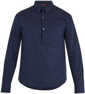 Barena VENEZIA Half-button polka dot-print cotton shirt