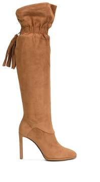 Roberto Cavalli elasticated fringed detailing boots