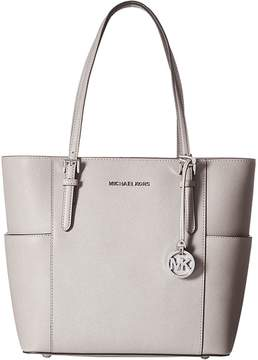 MICHAEL Michael Kors Jet Set Travel Large Tote Tote Handbags - BLACK - STYLE