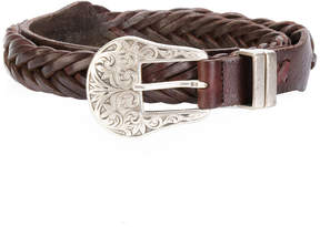 Golden Goose Deluxe Brand Texas buckled woven belt