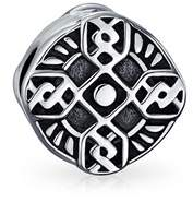 Celtic Bling Jewelry Religious Cross Bead Charm 925 Silver Bead Charm.