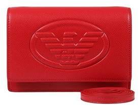 Emporio Armani Y3b086 Yh18a 80003 Red Clutch Handbag.