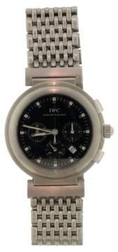 IWC International Co Da Vinci Stainless Steel 3728 Quartz Chronograph 039 S 37mm Mens Watch