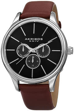 Akribos XXIV Mens Brown Strap Watch-A-870br