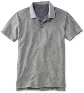 L.L. Bean L.L.Bean Signature Textured Knit Polo, Short-Sleeve