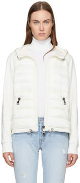 Moncler White Down and Jersey Jacket