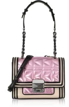 Karl Lagerfeld Metallic Pink K/kuilted Mini Handbag
