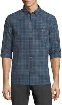 Michael Bastian Crinkled Plaid Sport-Shirt
