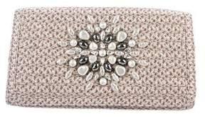 Eric Javits Embellished Woven Squishe Bag