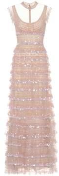 Valentino Sleeveless sequin-embellished dress