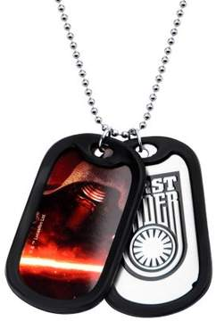 Star Wars Men's Stainless Steel Episode 7 First Order Kylo Ren with Rubber Silencer Double Dog Tag Pendant Necklace