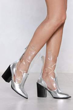 Nasty Gal Let Me Clarify Metallic Heel